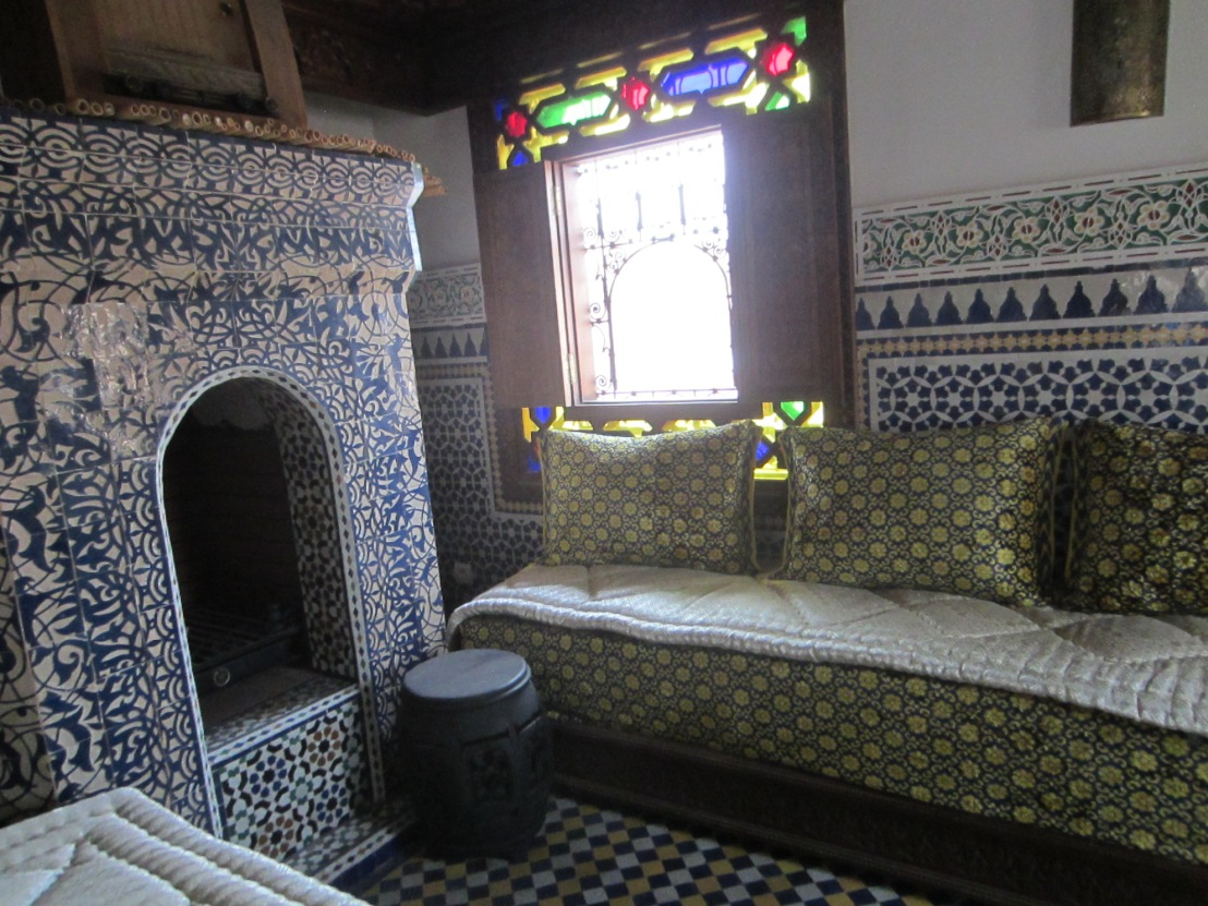 Rooftop room with fireplace at Riad Rcif in Fez